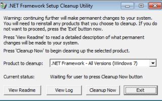 Ошибка инициализации платформы .NET Framework 4 — как исправить