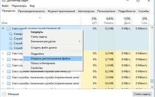 Процесс «Узел службы…» (svchost.exe) грузит процессор ПК — можно ли удалить