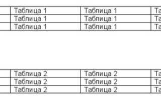 Как объединить таблицы в ворде 2010