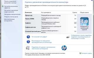 Оценка (индекс) производительности windows