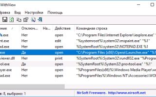 Опция — Открыть с помощью отсутствует в контекстном меню файла в Windows 10