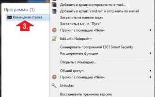 Работа с командной строкой в Windows 7 и способы как ее вызвать