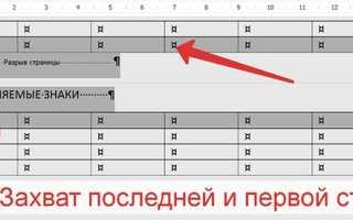Как соединить разорванную таблицу в Ворде (Word) работа с таблицей