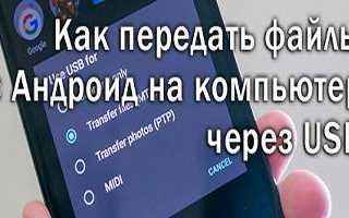 Как передавать файлы с компьютера на телефон Android и обратно