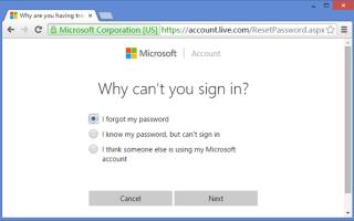 Способ сброса паролей учетных записей Windows.