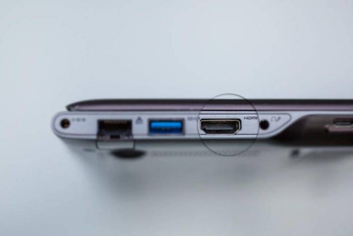 Разъем HDMI на ноутбуке Samsung