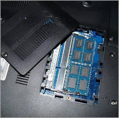 Установка памяти в ноутбук