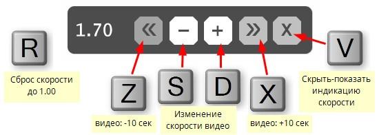 video-speed-controller кнопки