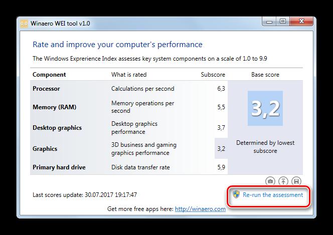 Zapusk-povtornoy-otsenki-indeksa-proizvoditelnosti-v-okne-programmyi-Winaero-WEI-tool-v-Windows-7.png