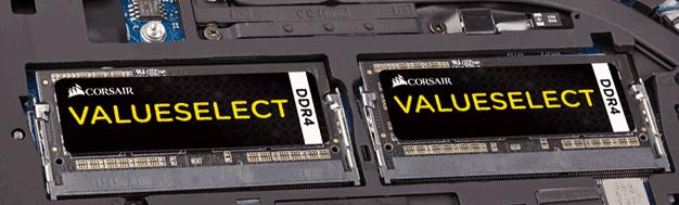Две одинаковые планки памяти в ноутбуке